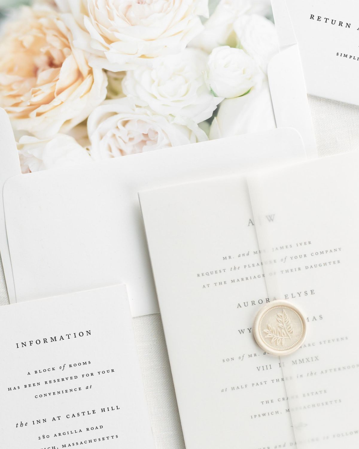 Wedding Invitations with Vellum
