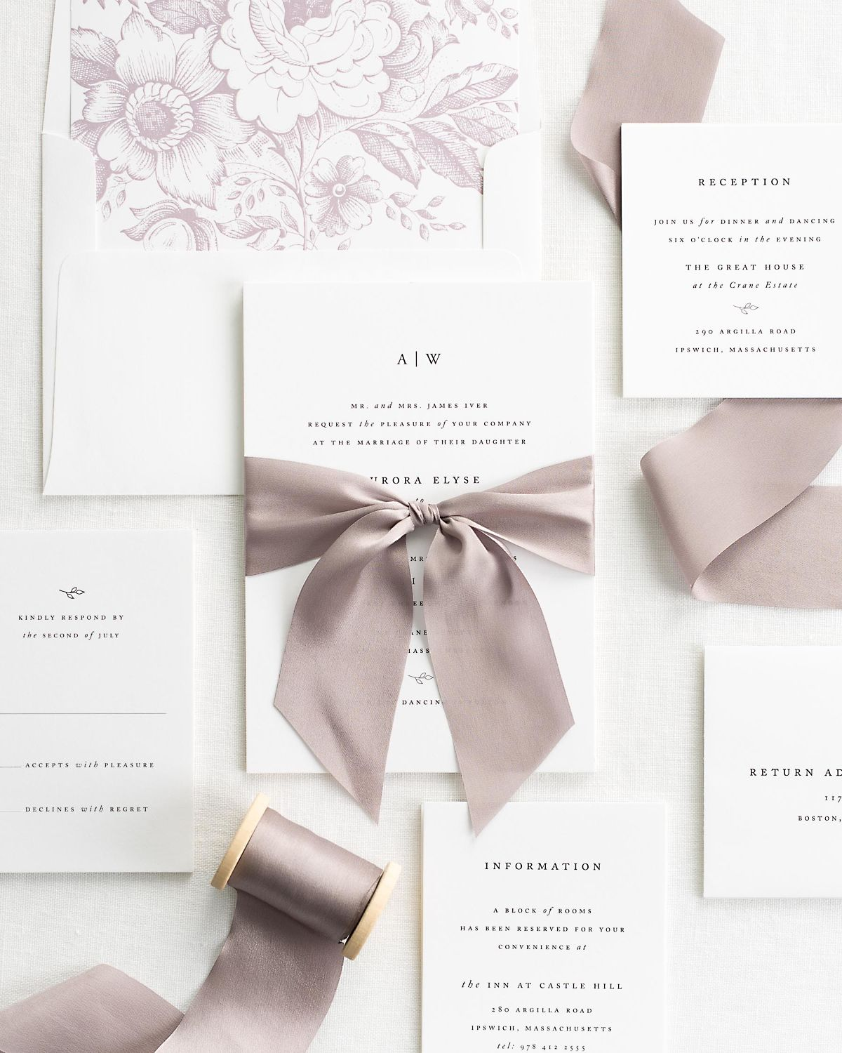 how to add ribbon to wedding invitations