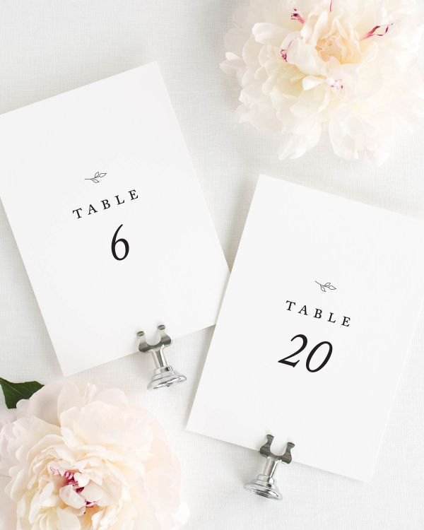 Aurora Table Numbers