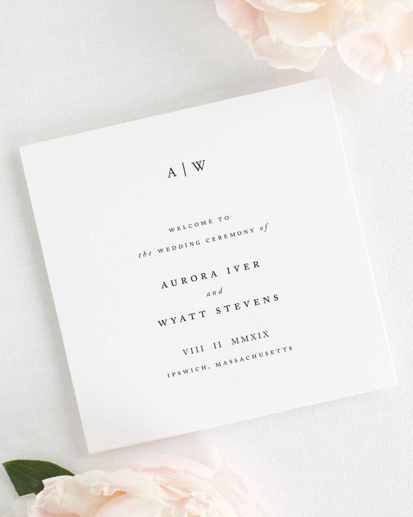 Aurora Wedding Programs