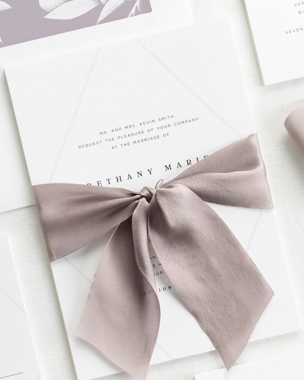 Bethany Ribbon Wedding Invitations