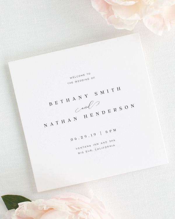 Bethany Wedding Programs
