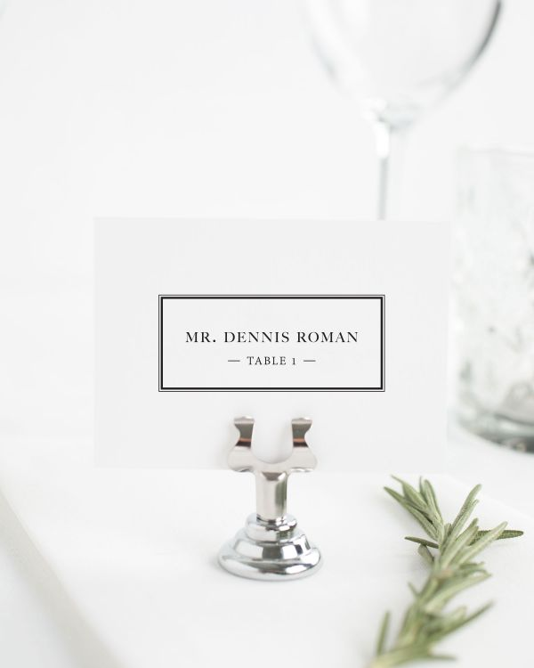 Boxed Monogram Place Cards