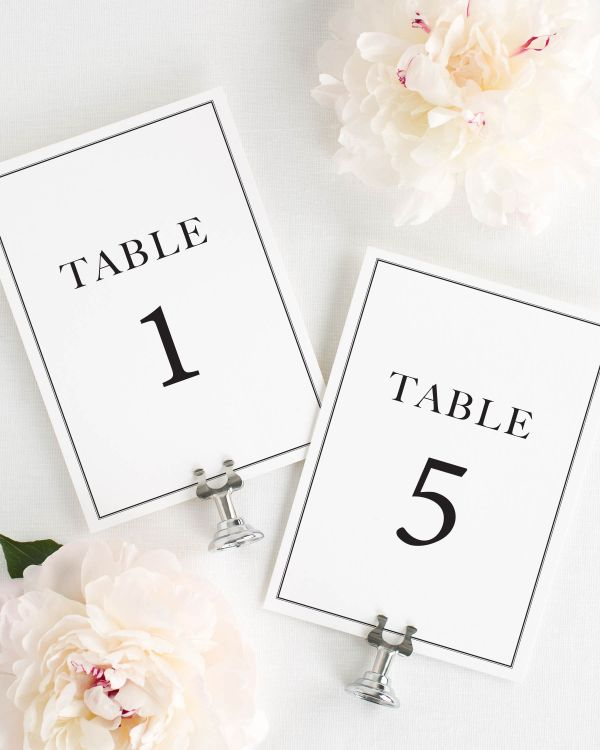 Boxed Monogram Table Numbers
