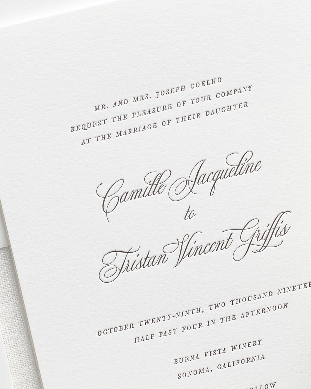 Engraved Wedding Stationery
