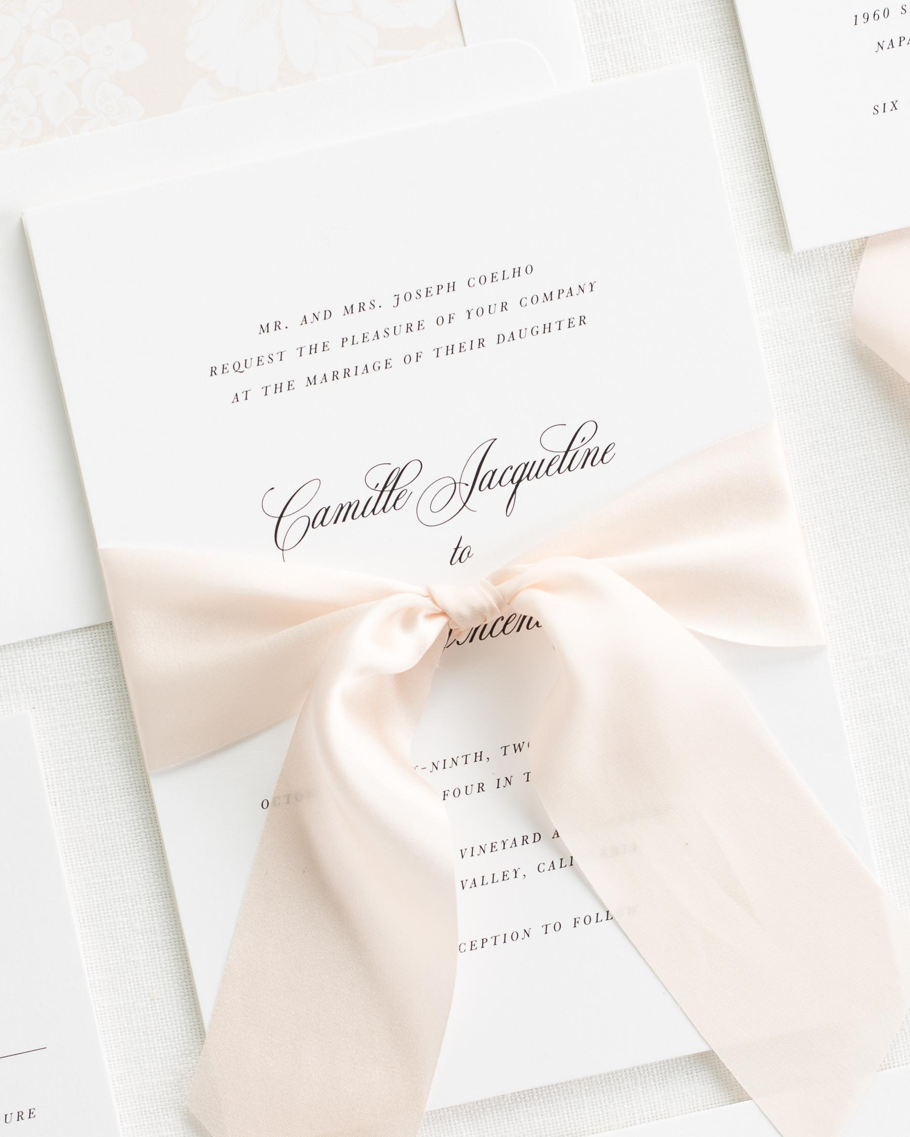 Camille Ribbon Wedding Invitations