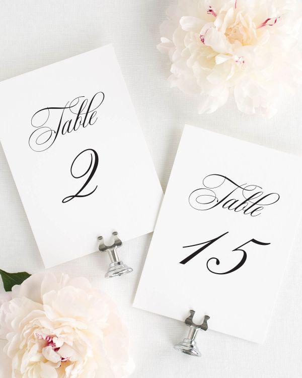 Camille Table Numbers