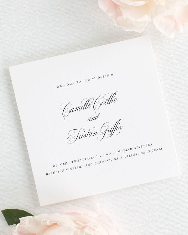 Camille Wedding Programs