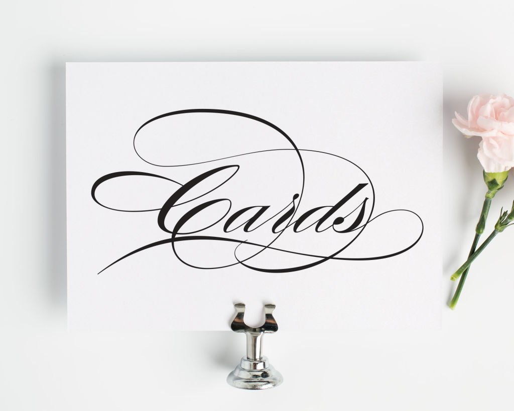 Wedding Cards Sign - Wedding Signs by Shine