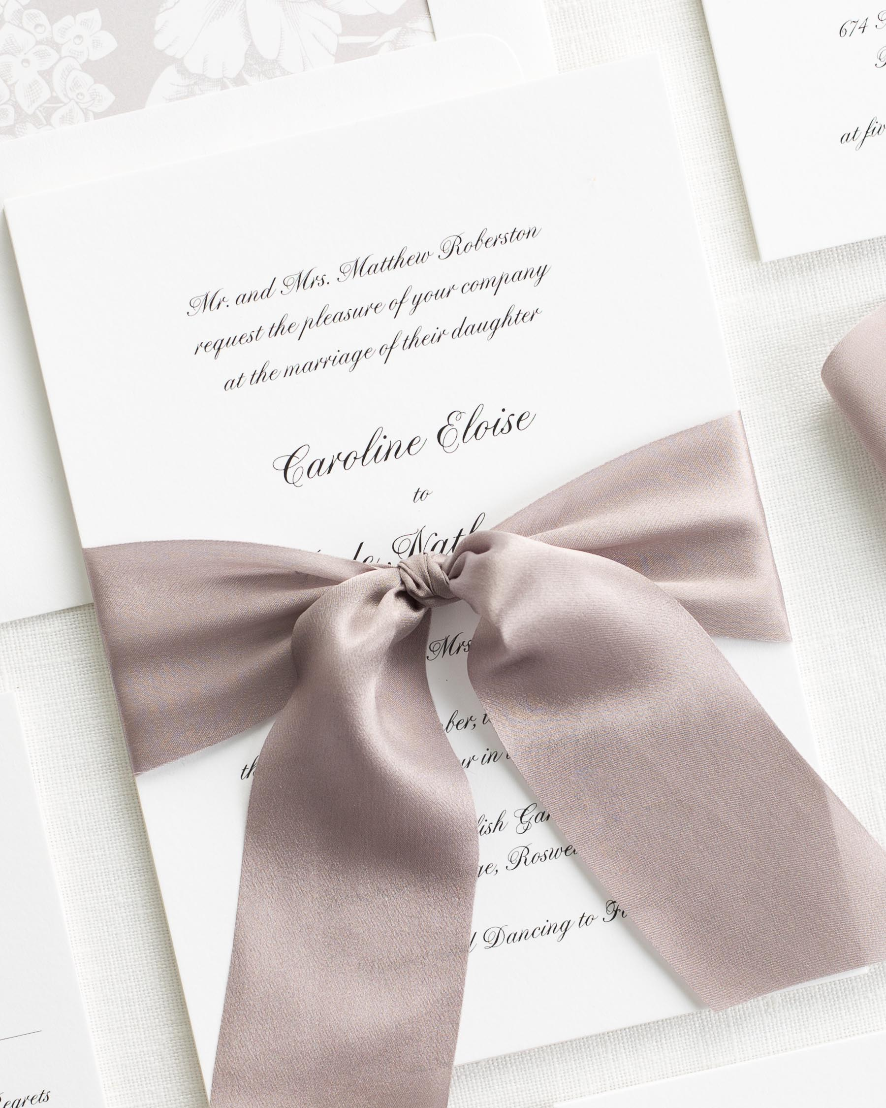 Caroline Ribbon Wedding Invitations