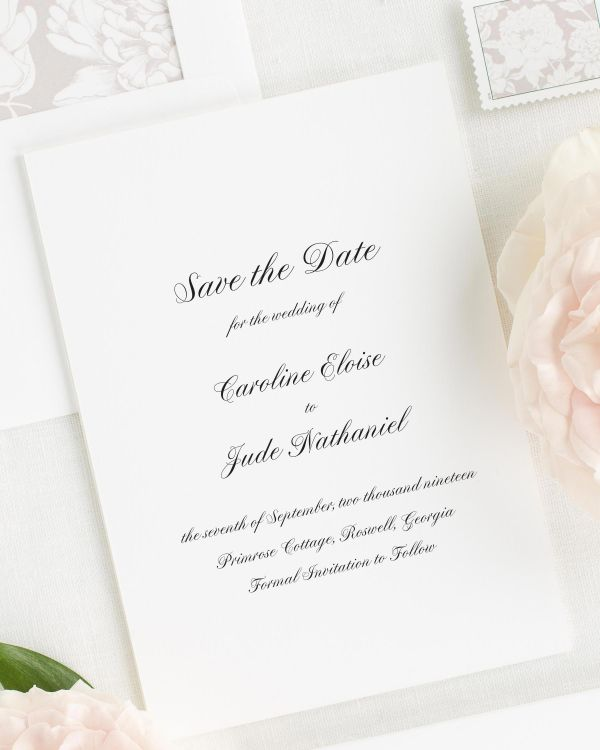 Caroline Save the Date Cards