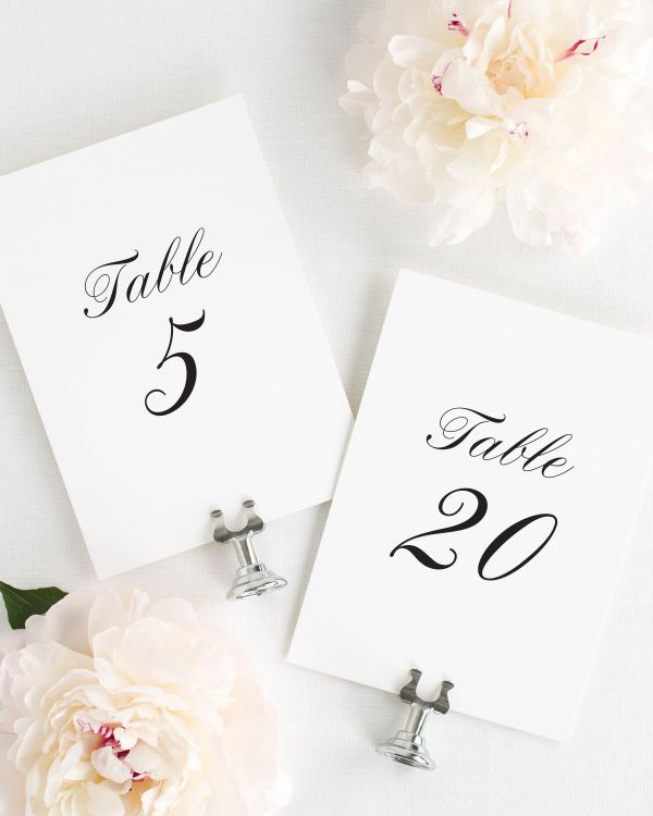 Caroline Table Numbers