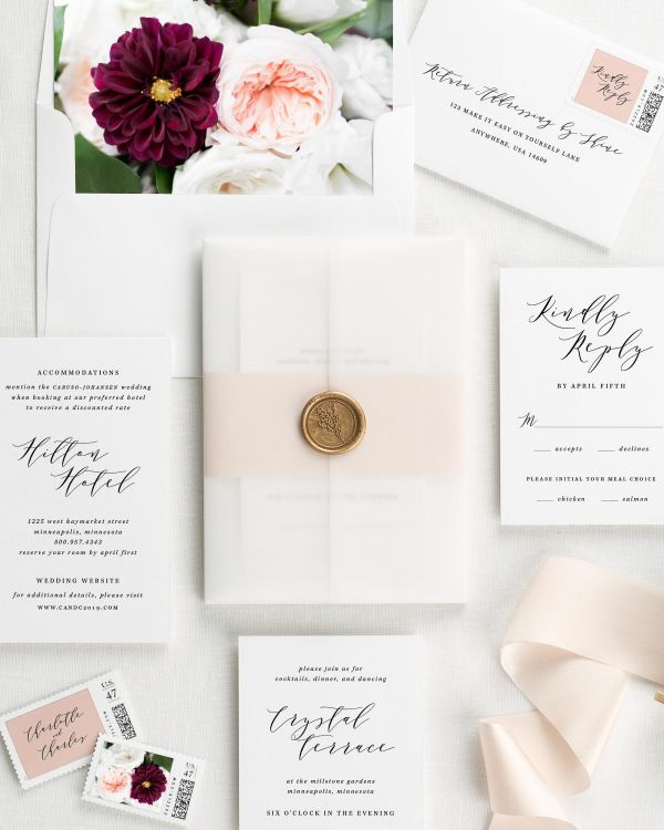 Charlotte Floral Wedding Invitations