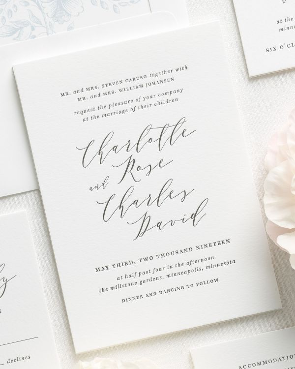 Charlotte Letterpress Wedding Invitations