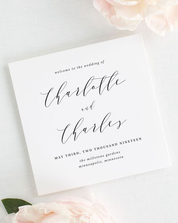 Charlotte Wedding Programs