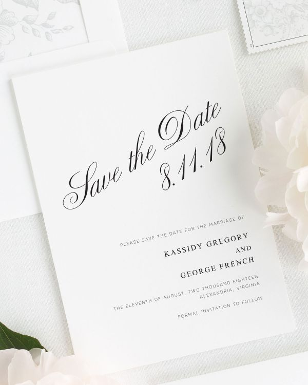 Charming Elegance Save the Date Cards
