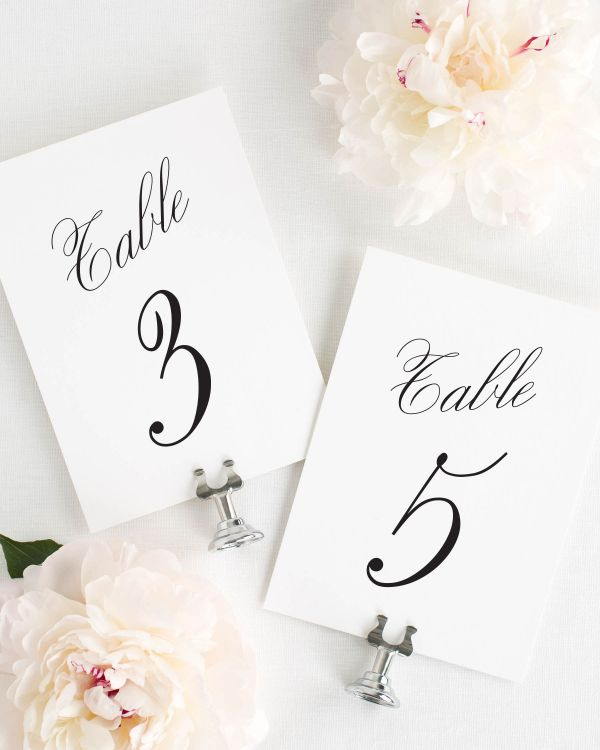 Charming Elegance Table Numbers