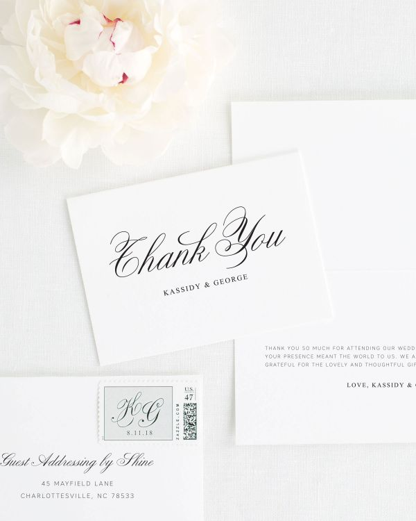 Charming Elegance Thank You Cards