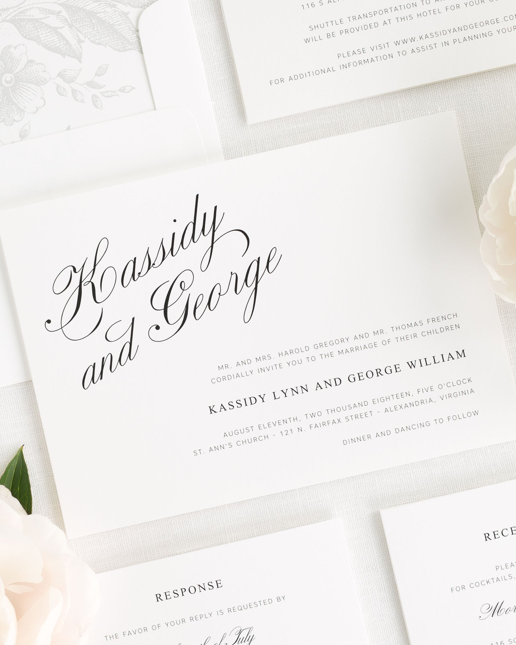 Charming Elegance Wedding Invitations