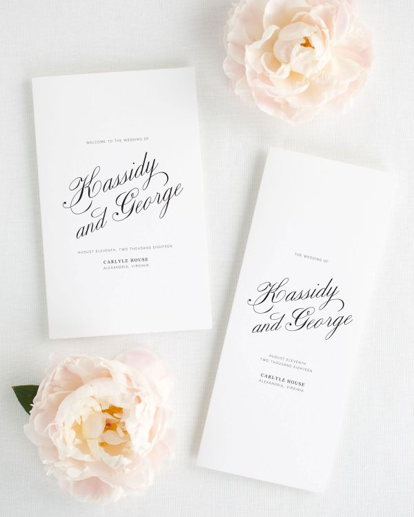 Charming Elegance Booklet Wedding Programs