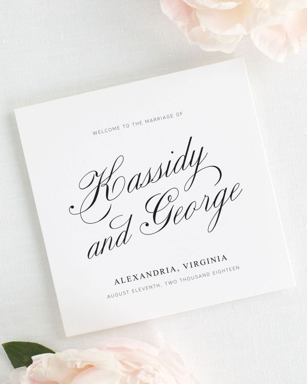 Charming Elegance Wedding Programs