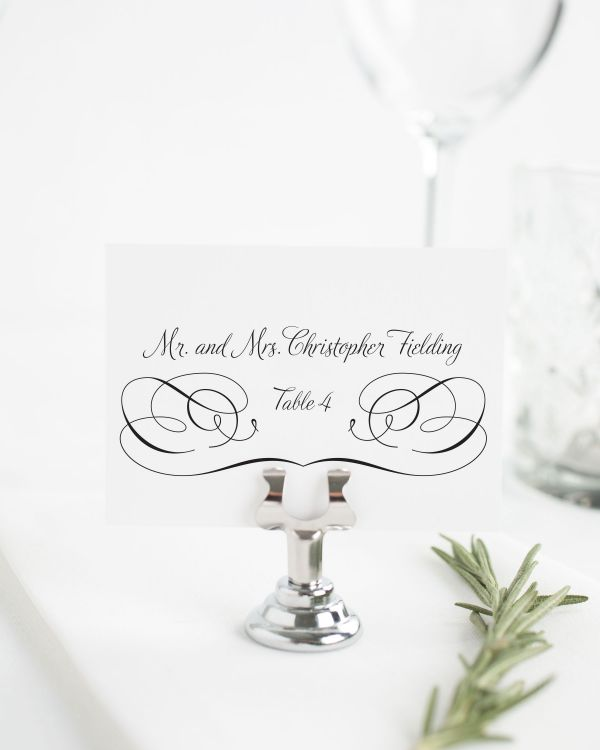 Charming Script Place Cards
