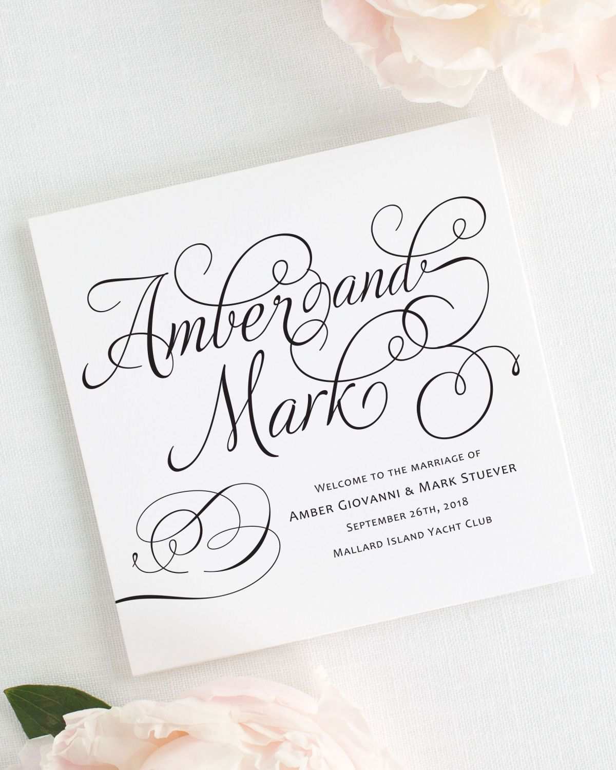 Charming Script Wedding Programs - Wedding Programs by Shine