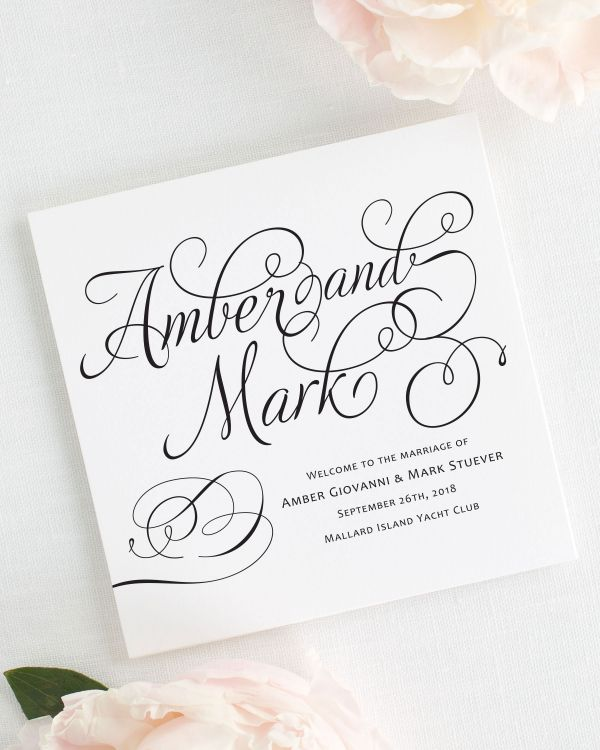 Charming Script Wedding Programs