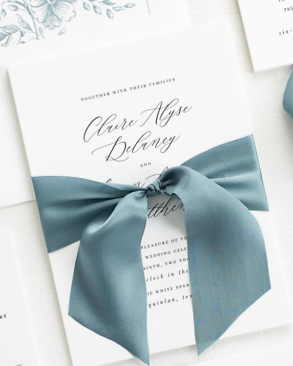 Claire Ribbon Wedding Invitations