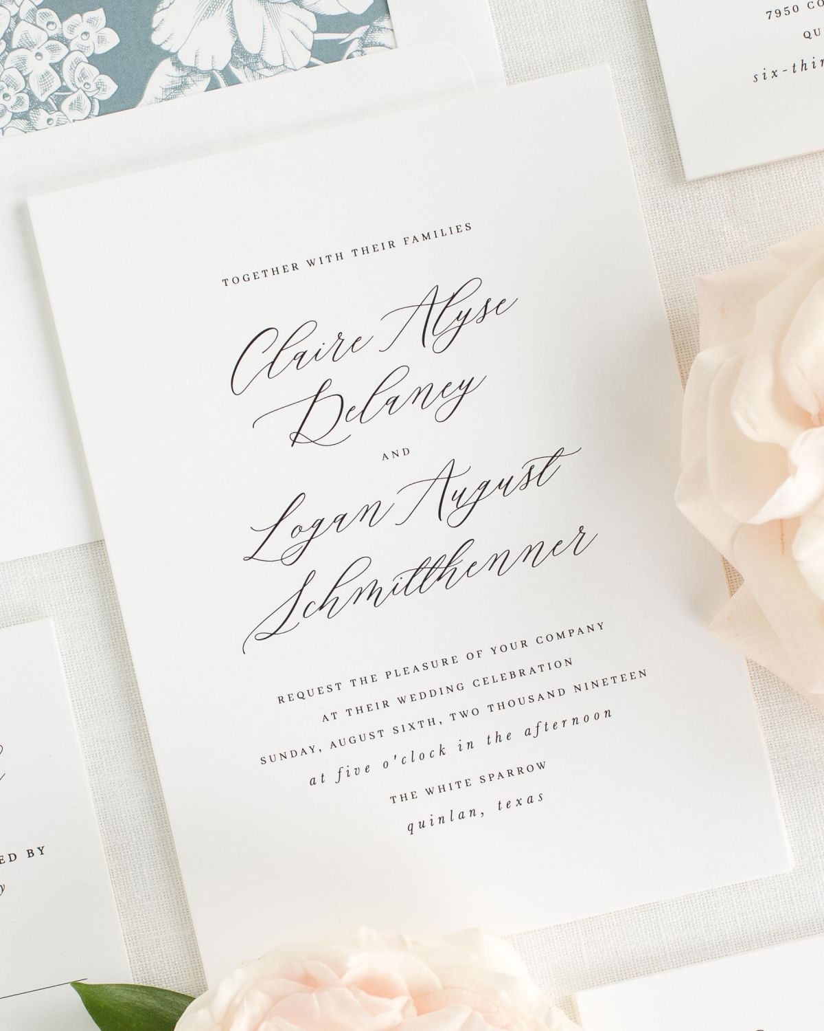Claire Wedding Invitations - Wedding Invitations by Shine