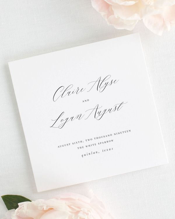 Claire Wedding Programs