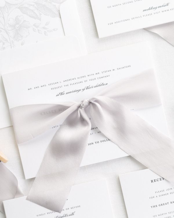 Classic Elegance Ribbon Wedding Invitations