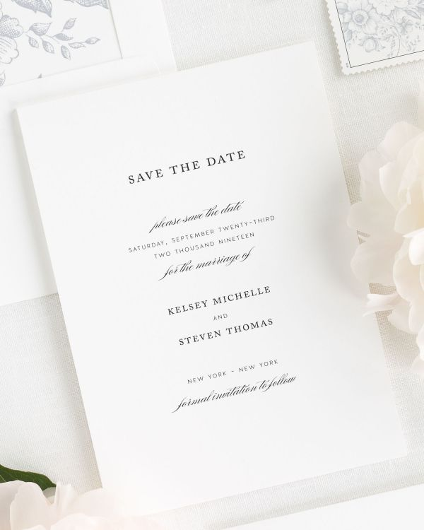 Classic Elegance Save the Date Cards