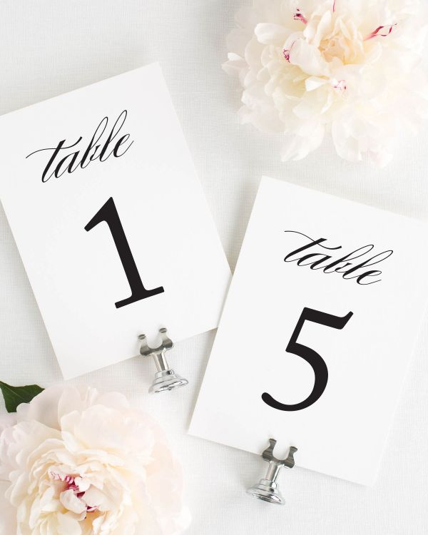 Classic Elegance Table Numbers