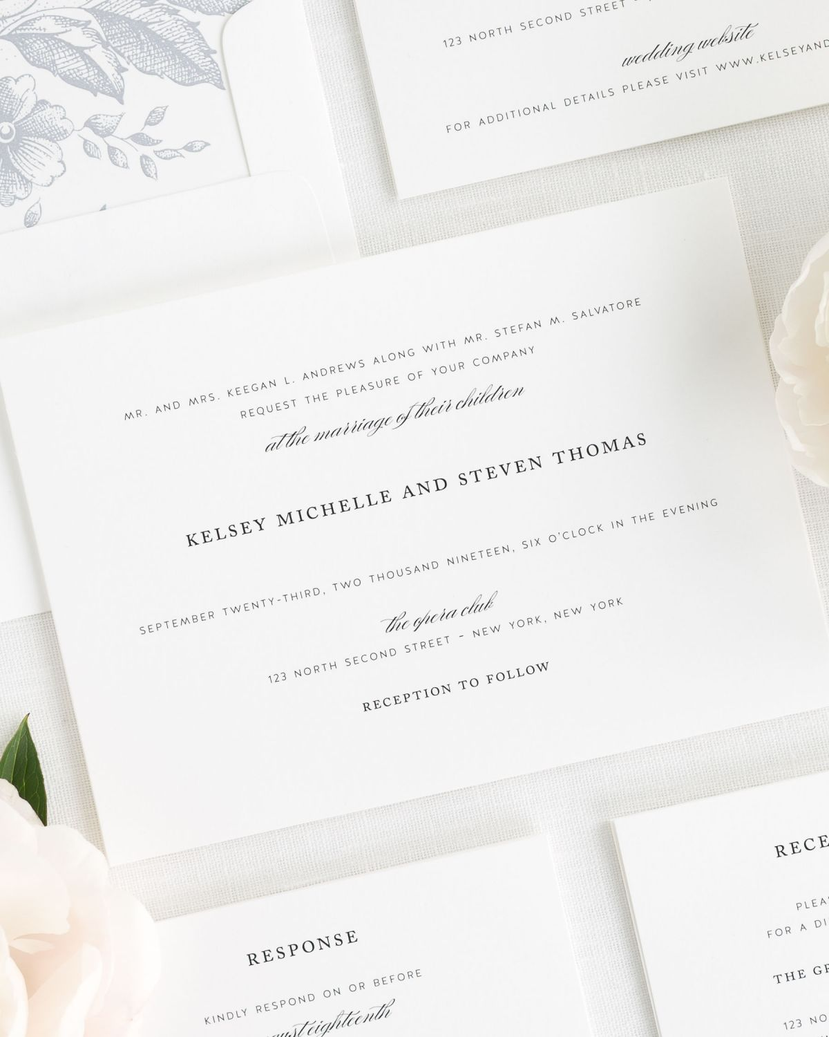 Classic Elegance Wedding Invitations - Wedding Invitations by Shine