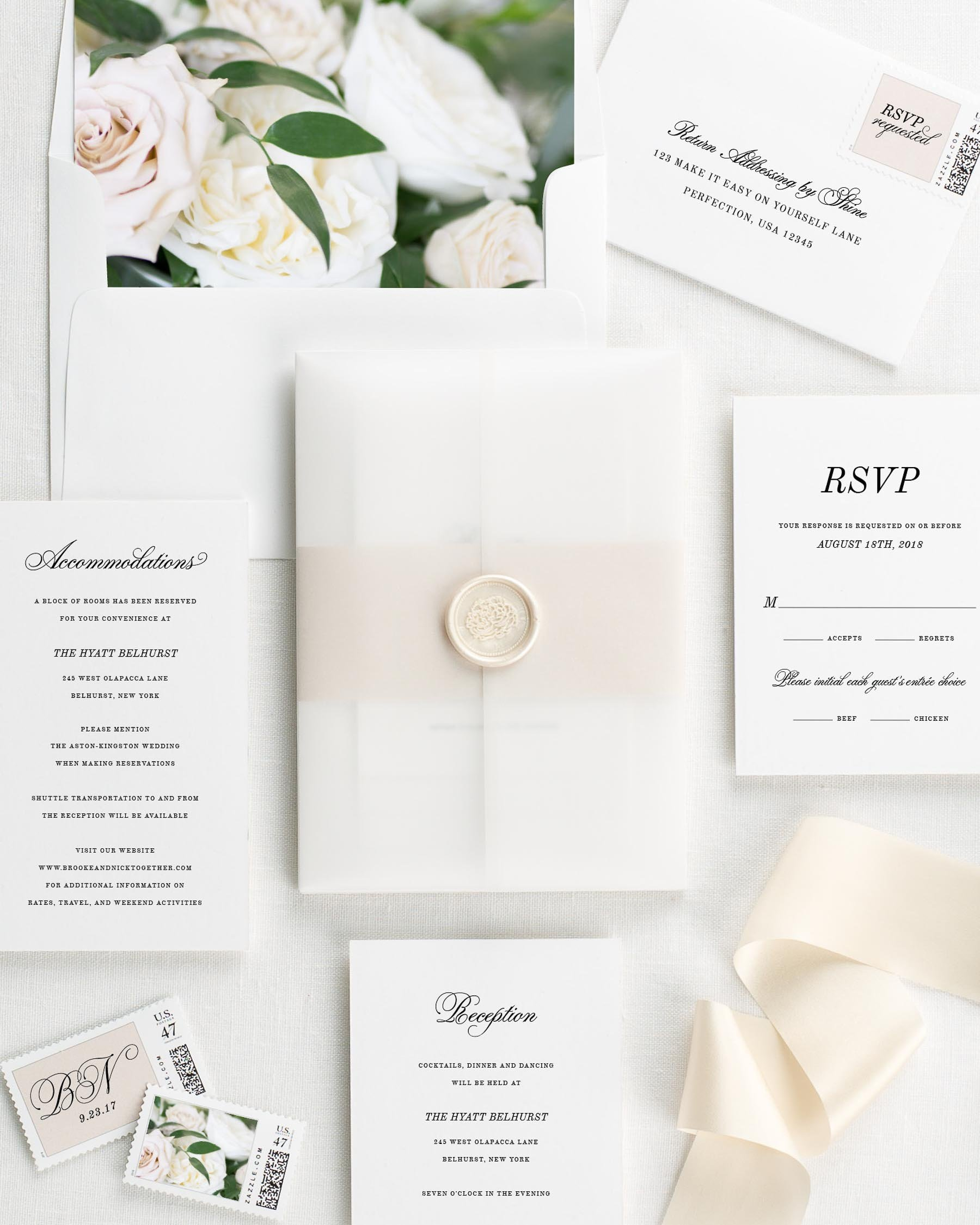 classic romance floral wedding invitations floral wedding