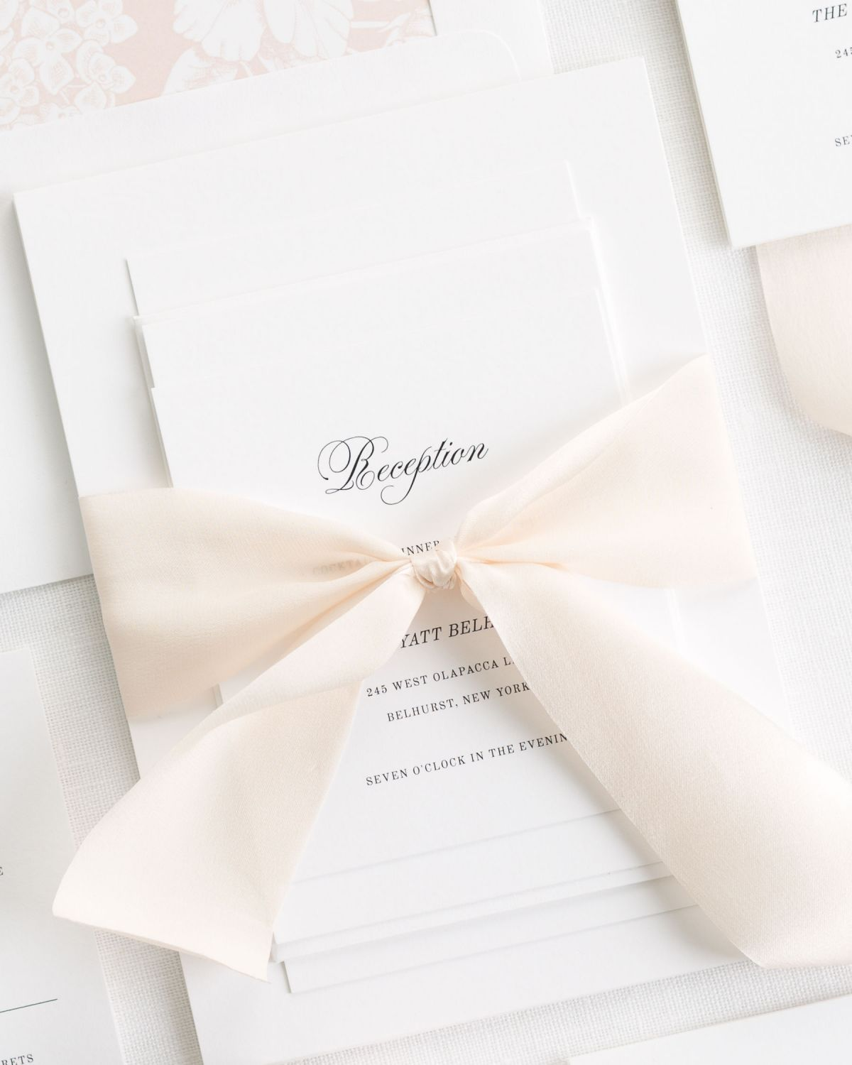romantic wedding invitations with script