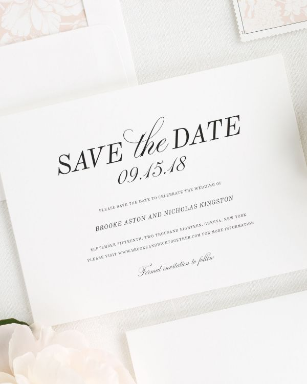 Classic Romance Save the Date Cards