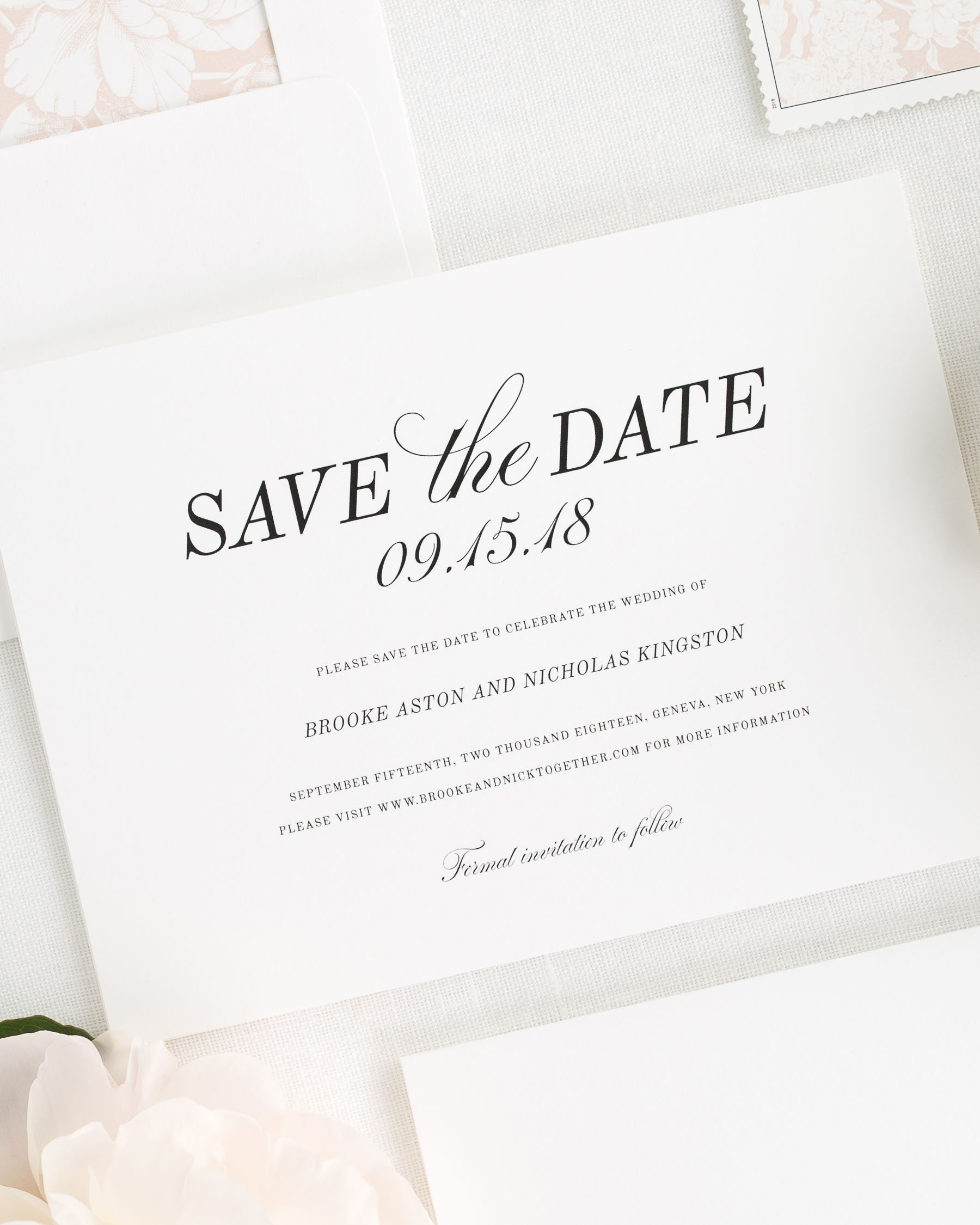 When To Send Save The Date: Classic Romance Save The Date Cards