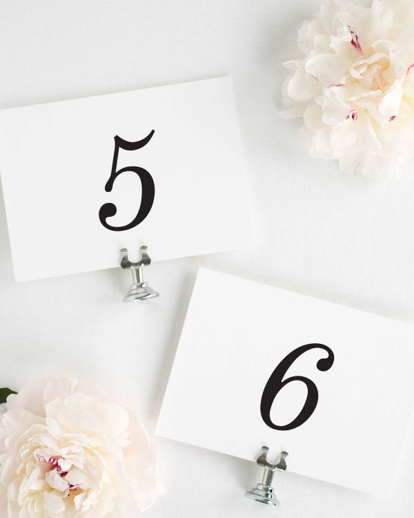 Classic Romance Table Numbers
