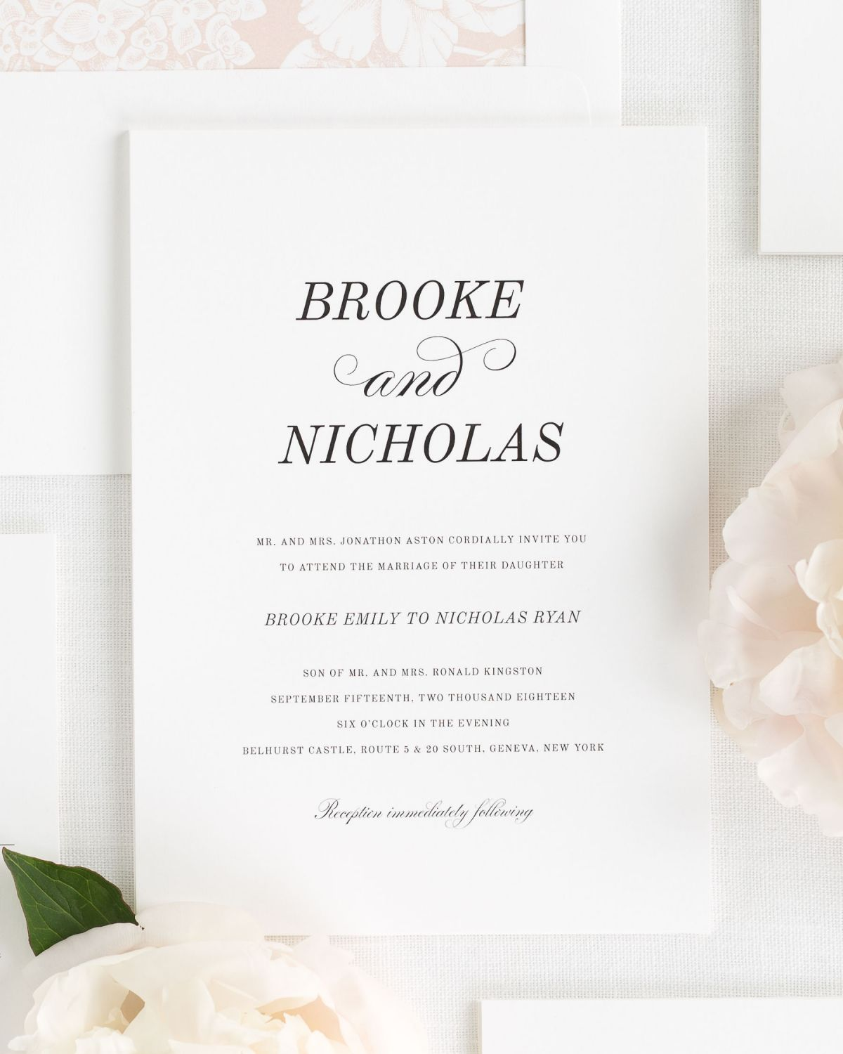 Small Ceremony Big Reception Invitations: Classic Romance Wedding Invitations