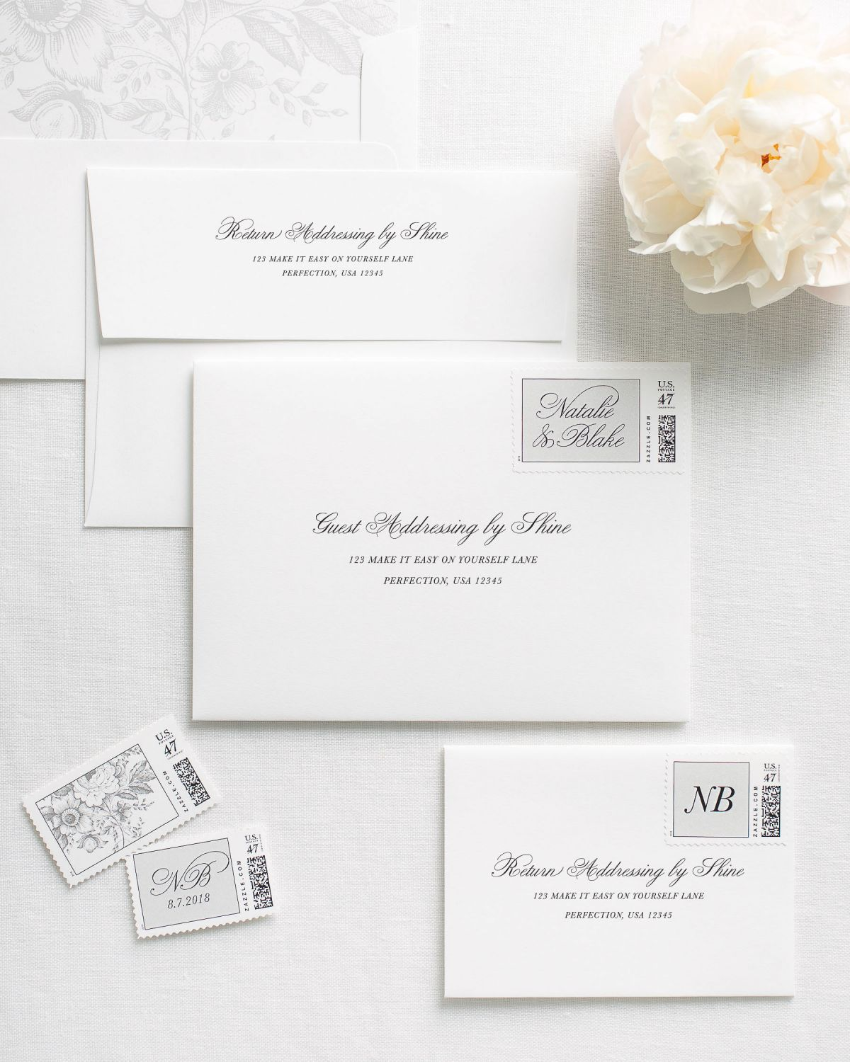 Addressed Envelopes for Wedding Invitations
