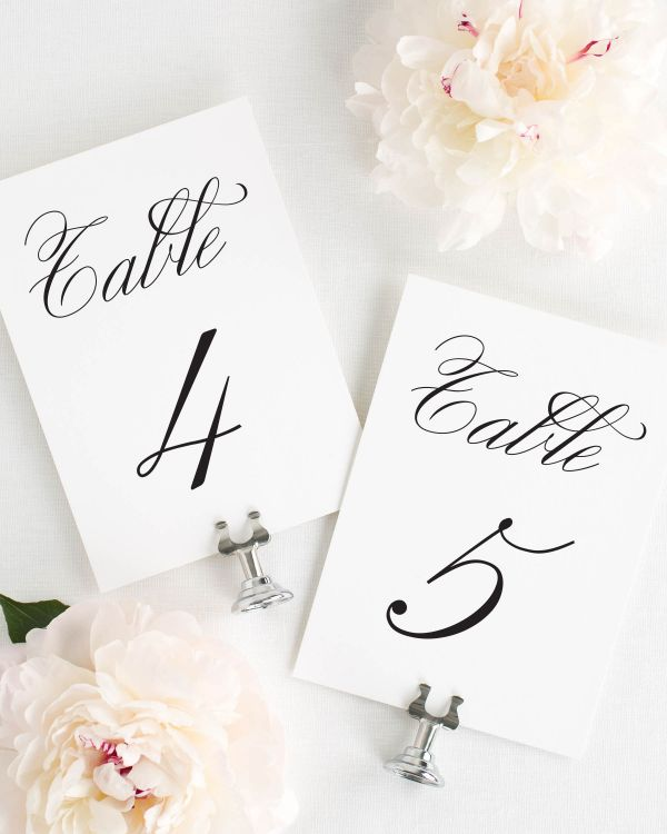 Classic Script Table Numbers
