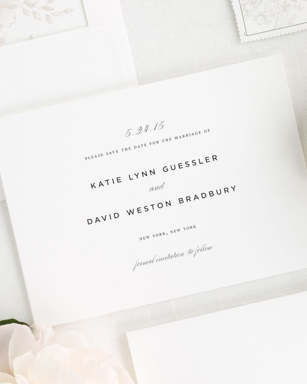 Classic Urban Save the Date Cards