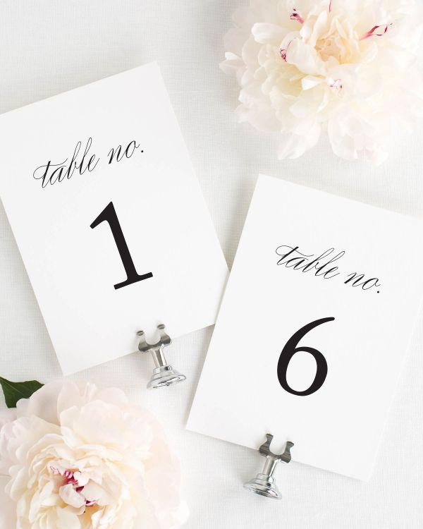 Classic Urban Table Numbers