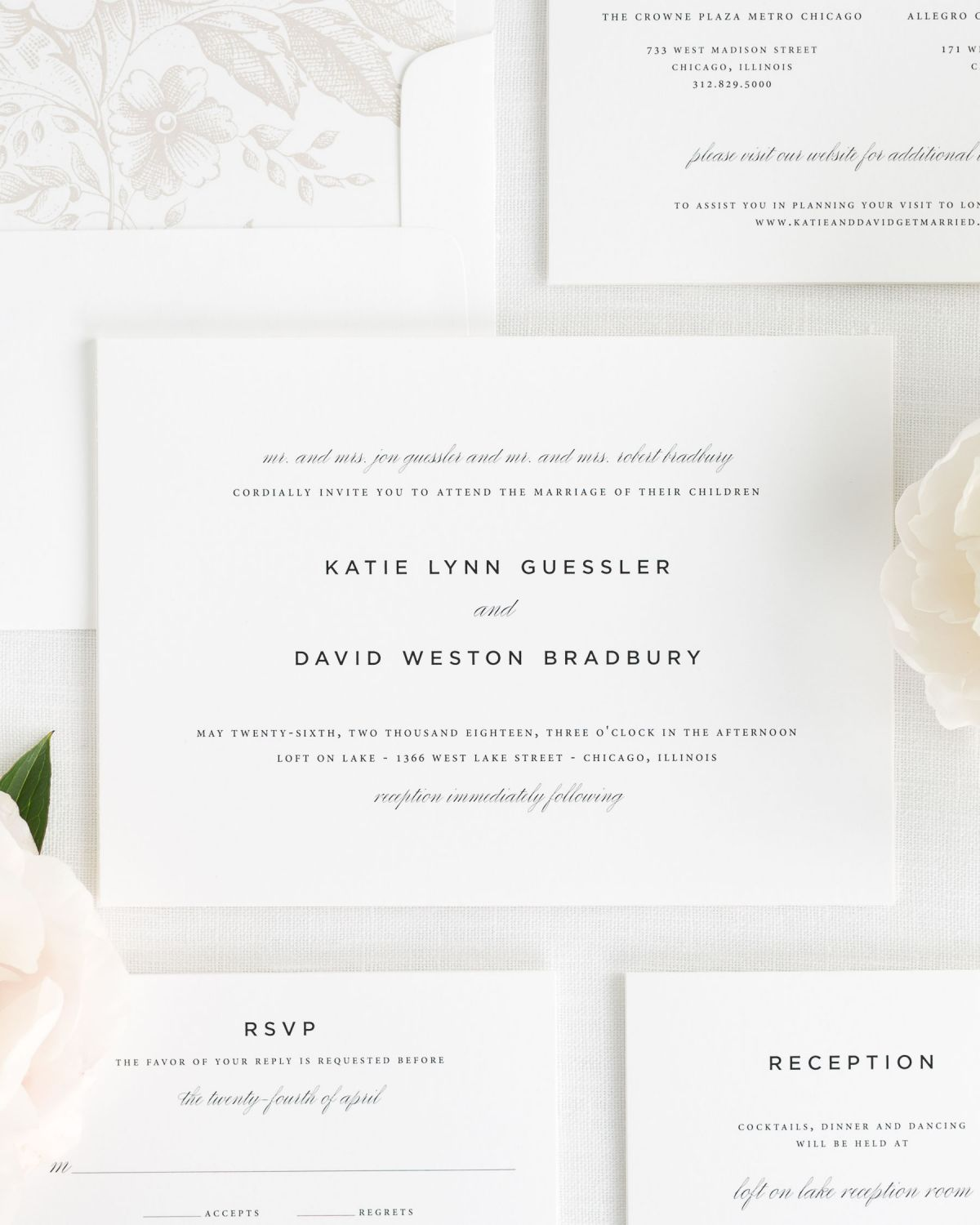 Wedding Invitations with Small Non-Script Names