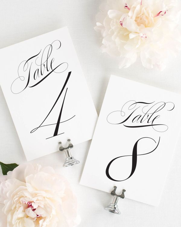 Classic Vintage Table Numbers