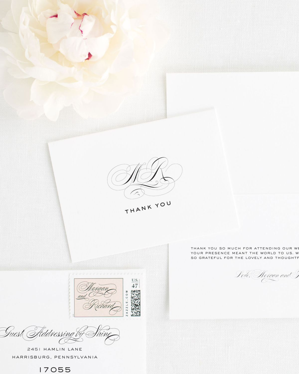Classic Thank You Cards for Wedding