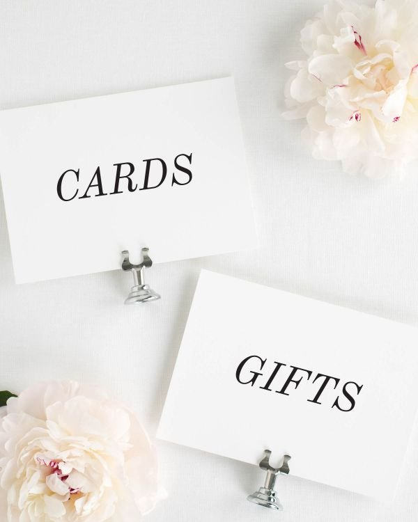 Classic Romance Wedding Signs Package