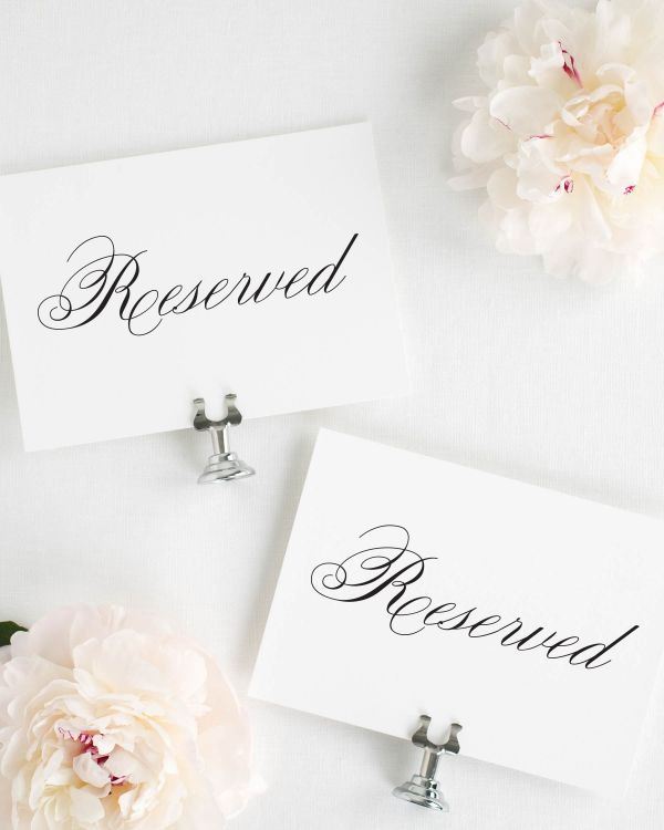 Classic Script Reserved Signs